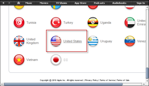 How to setup an USA account to download Apple iTunes Store Music