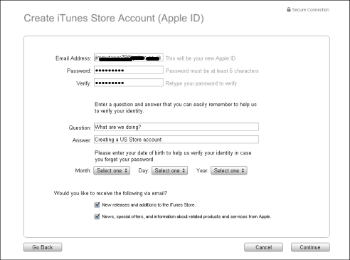 How to setup an USA account to download Apple iTunes Store